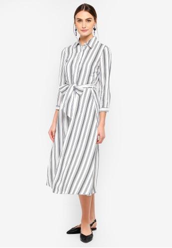 FORCAST white Nola Button Up Dress DF838AADFF8311GS_1