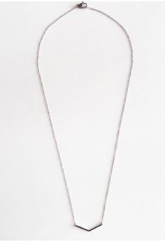 Stainless V Curve Necklace