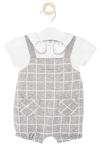 RAISING LITTLE grey Ynez Romper E4F1BKA87194B6GS_1