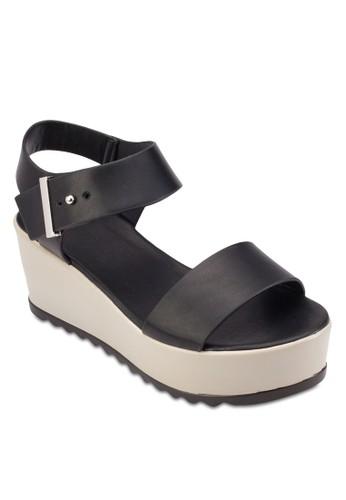 一字帶繞踝厚esprit tw底涼鞋, 女鞋, 鞋