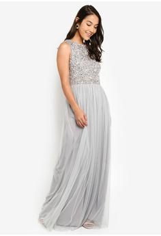 1c945b8ad97c Angeleye Sleeveless Beaded Maxi Dress S$ 185.90. Sizes XS S M L XL