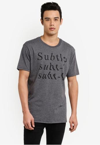 MANGO Man grey Printed Cotton T-Shirt MA449AA0RBXHMY_1
