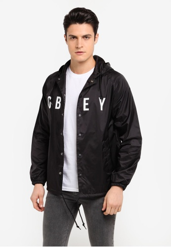 OBEY 黑色 Anyway Jacket 2F76CAA1958D89GS_1