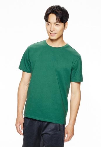 Life8 green Casual Short-Sleeved Tee-10117-Green 4F70CAA8817E9BGS_1