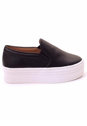 Crystal Korea Fashion black Korean Solid Color Versatile Platform Casual Shoes 66136SH40DB347GS_1
