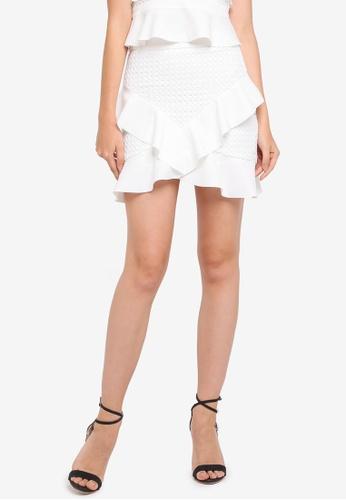 Bardot white Fae Lace Skirt BA332AA0STB4MY_1