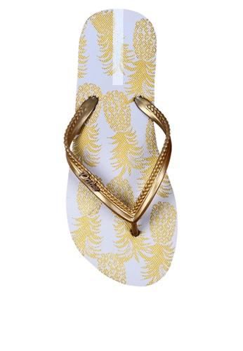 Palm Lagoon gold Sandals & Flip Flop Pineapple White 1C482SH6E19E77GS_1