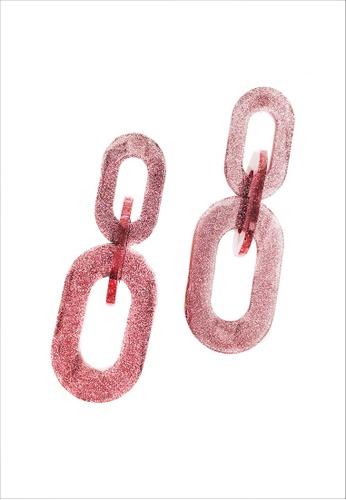 My Flash Trash pink 80's Pink Glitter Earring 4C3F2ACFC08779GS_1