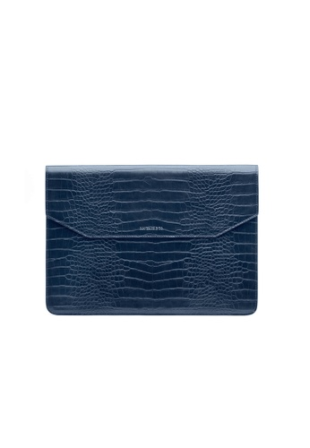 Maverick & Co. blue Maverick & Co. Sirius Croc-Embossed MacBook Sleeve (Royal Blue) 2FDCCAC3BDD789GS_1