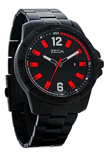 ZECA black Zeca Watches Men Fashion Stainless Steel Analog - 2004M Full Black ZE260AC0H9AESG_1