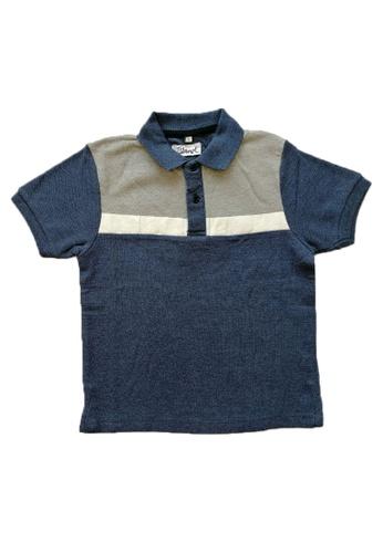 KAMDAR blue Boys Polo contrast colour T/shirt FC30FKACD9D15CGS_1