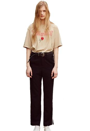 17SS白邊黑色esprit 童裝休閒褲, 服飾, 長褲及內搭褲