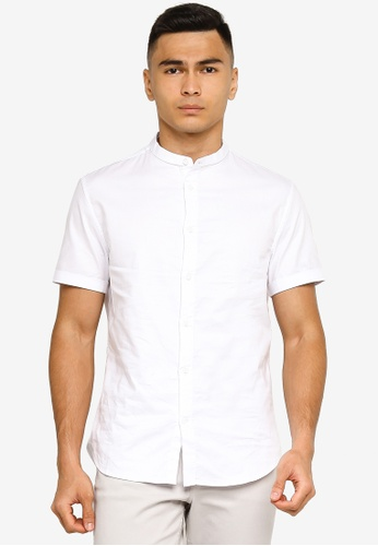 H&M white Woven Shirt 57F12AA1307F6EGS_1