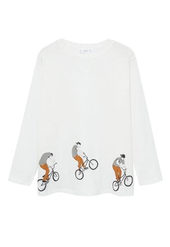 MANGO KIDS white Organic Printed Cotton T-Shirt A2CAFKA1059F97GS_1