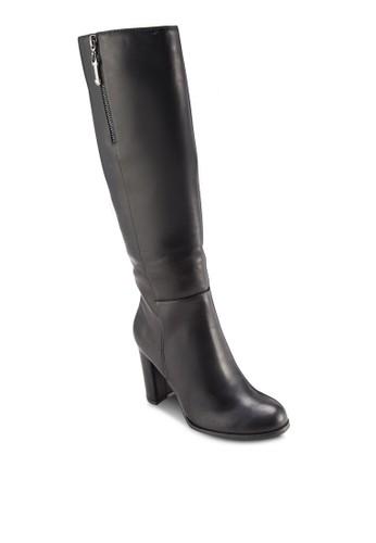 側拉鍊高跟高筒esprit taiwan靴, 女鞋, 鞋