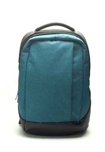 Stylesource blue Contrast Backpack ST896AC39PMIPH_1