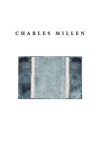 Charles Millen blue SET OF 2 Charles Millen Nadia TR1618Y  Microfibre Anti slip  Bath Mat /   40x60cm EDE42HLA05AA76GS_1