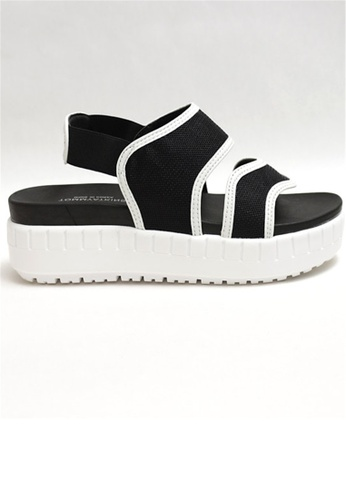 Crystal Korea Fashion black Korean-made Summer Shock-absorbing Breathable Platform Sandals A2E4BSH23E2D9AGS_1