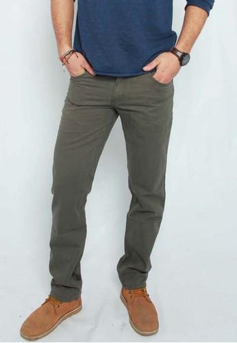 115505T4 Pants Twill - Olive Green
