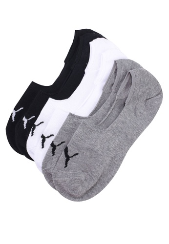 Puma white and multi Footie 3P Multipack Socks CA2D0ACC14EFA2GS_1
