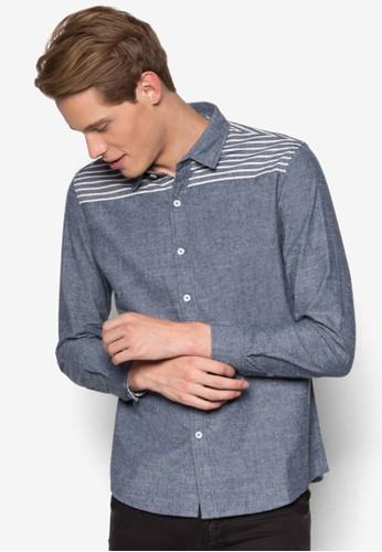 休閒長袖襯衫、 服飾、 印花襯衫Marc&Giselle休閒長袖襯衫最新折價