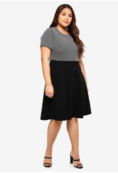 fc48c701dd4 Dorothy Perkins Plus Size Spot Jacquard 2 In 1 RM 159.00. Sizes 20 22 24