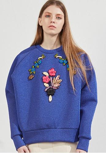 Workwear multi Blue Embroidery Top WO056AA57FISSG_1