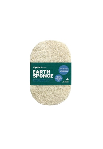 Zippies beige Zippies Earth Sponge Scrubber 4s A8515ESAD477FEGS_1