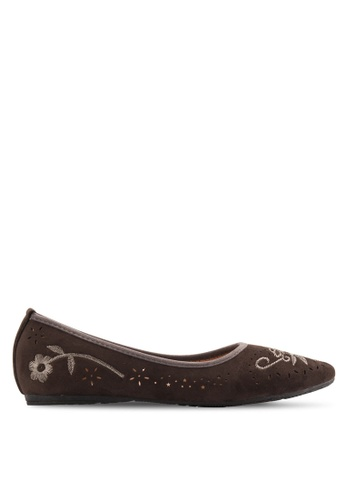 Louis Cuppers 灰色 Embossed Ballerinas LO977SH48XQTMY_1