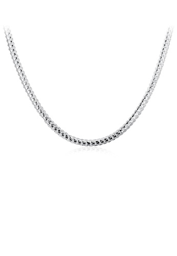 Glamorousky silver Simple Fashion Snake Necklace 59BDFAC8188F8FGS_1