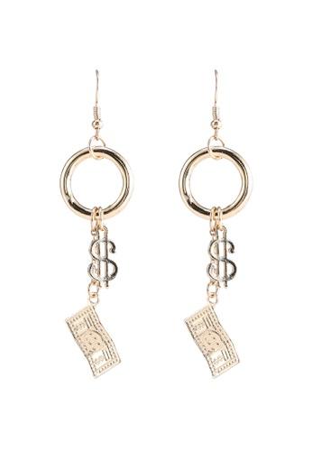 Saturation silver Miss Money Earrings 16BB2ACA7660C5GS_1