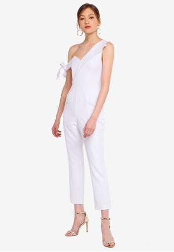 Lavish Alice white Tie Sleeve Detail Jumpuit B6583AA883AF0FGS_1