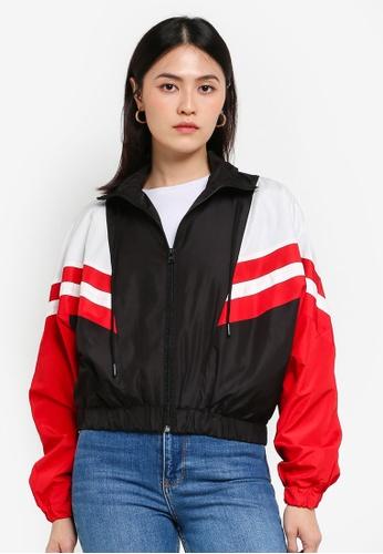 KOTON black Stripe Jacket 31309AA324158CGS_1
