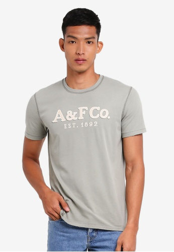 Abercrombie & Fitch 綠色 Brand Logo T-Shirt 24DFAAAD745F88GS_1
