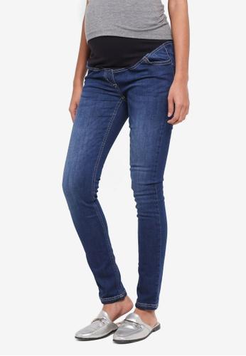 a9b64f548e496 JoJo Maman Bébé navy Maternity Super Skinny Jeans 4A210AA0225C56GS_1