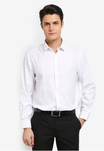 Kent & Crew white Fashion Custom Fit Long Sleeve Shirt 58A8EAAB5E71A6GS_1