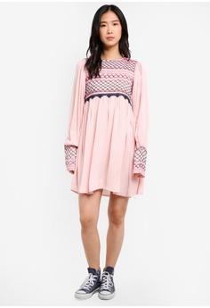 e3894df1e0307b 69% OFF Free People Late Night Picnic S  251.90 NOW S  78.80 Sizes M ·  Vesper pink Elena Lace Bardot Mini Dress 50133AAB504719GS 1