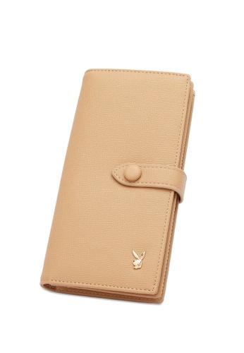 PLAYBOY BUNNY beige Women's Bi Fold Purse / Bi Fold Wallet B9ED9AC7C16B79GS_1