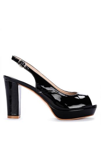 ABOUT A GIRL black Peeptoe Slingback Heels 28C60SH0C9DAA5GS_1