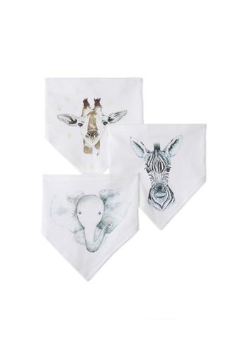 Gen Woo white 3 Pack Triangle Bibs By Gen Woo 51599KA9236C94GS_1