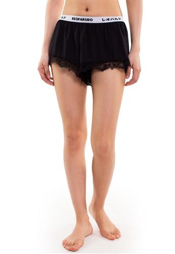 Reoparudo black Reoparudo Premium Lace Trim Shortie (Black) RE413US0FDM2SG_1