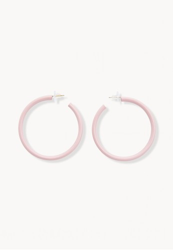 Pomelo pink Colored Metal Circular Earrings - Pink 1B664ACB0BFA42GS_1