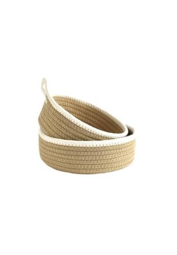 DILAS HOME 2pc Cotton Rope Storage Basket Set (Brown) D0147HL766EF33GS_1