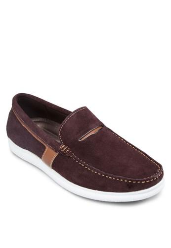 皮革拼接樂福esprit tw鞋, 鞋, 船型鞋
