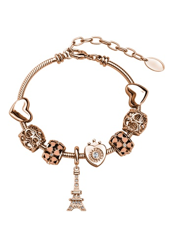 Her Jewellery Paris Charm Bracelet (Rose Gold) - Made with premium grade crystals from Austria A3BF4ACC566A38GS_1