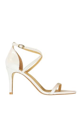 Twenty Eight Shoes white Shiny Cross Straps Heel Sandals VS126A7 D913BSH9279375GS_1