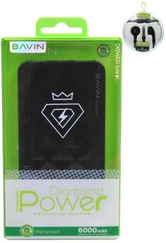 Diamond 6000mAh Powerbank with FREE Stereo Earphone