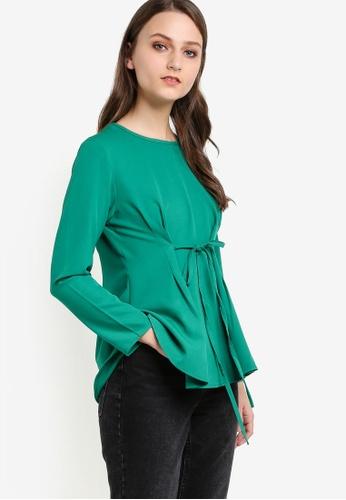 Aqeela Muslimah Wear green Qhalisha Blouse AQ371AA15PJOMY_1