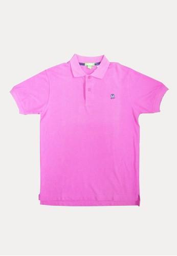 Bossini pink Bossini Kids Boy Polo Dk Magenta (43000102032) BE656KA39AEF60GS_1