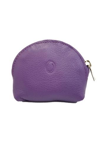 Oxhide purple Oxhide Leather Coin Purse purple Small 64F5BACABB6C04GS_1